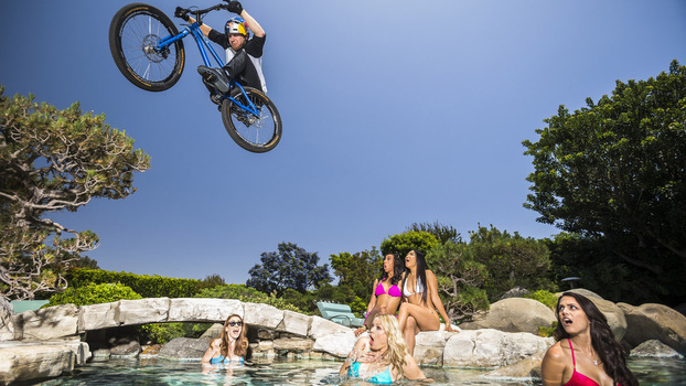 Danny MacAskill Rides the Playboy Mansion // Photo: Garth Milan / Red Bull Content Pool