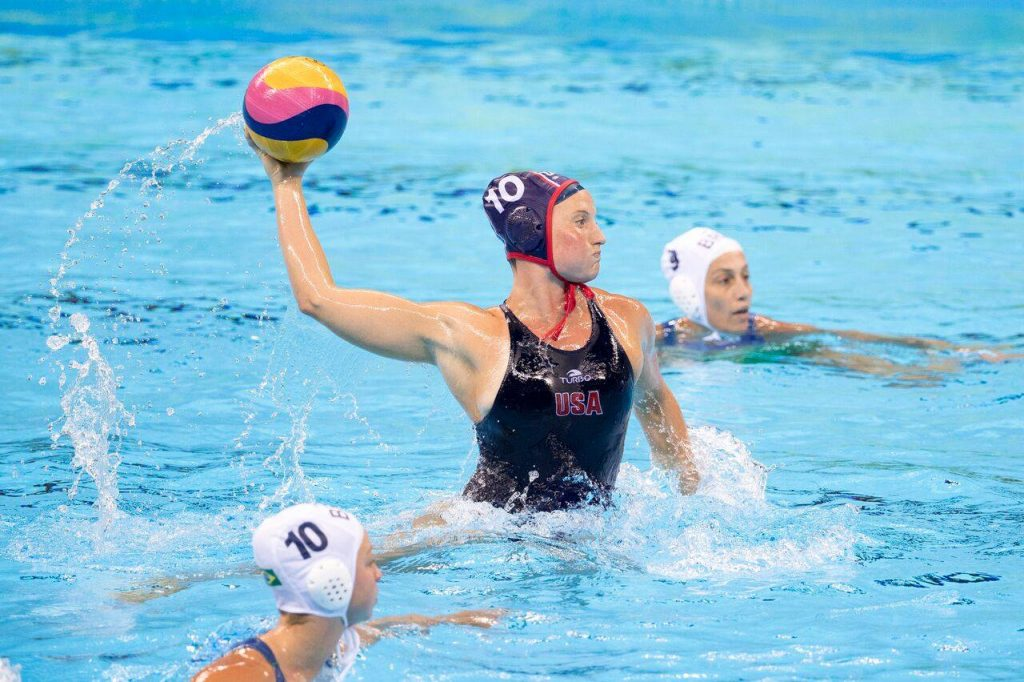 Olympic Gold Medalist Kaleigh Gilchrist Balancing Dual Sport Surfing Water Polo Career