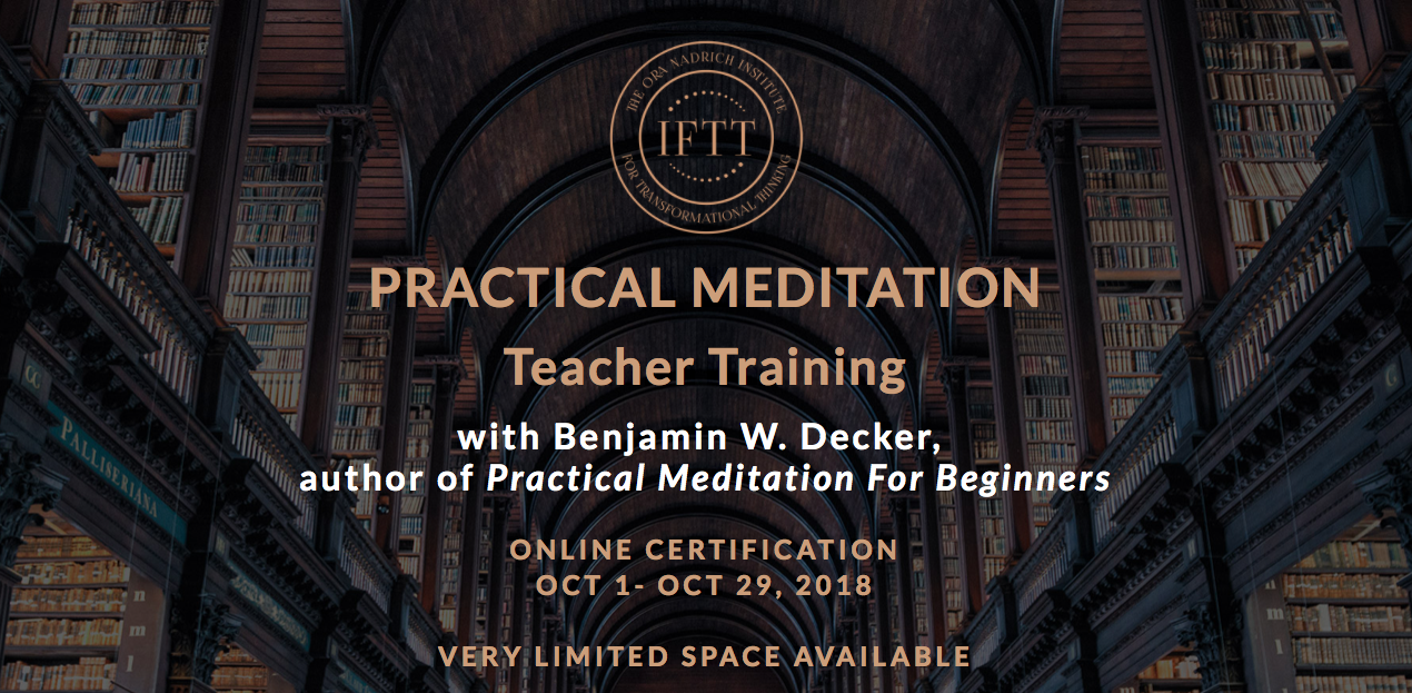 Iftt Practical Meditation Teacher Online Certification Training
