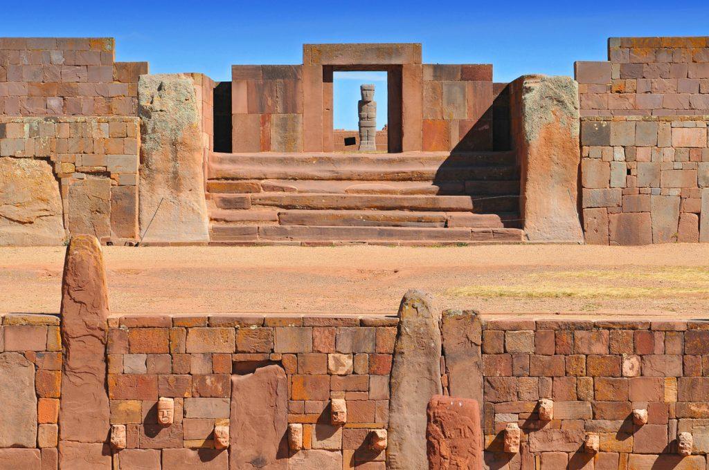 Temple Kalasasaya, Tiwanaku, Bolivia.