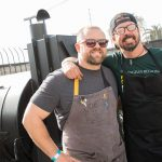 Chef Nick Shipp and Dave Grohl pose at Eat, Drink, and Support 2018