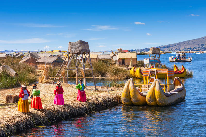 Uros Island / Floating Islands on Lake Titicaca