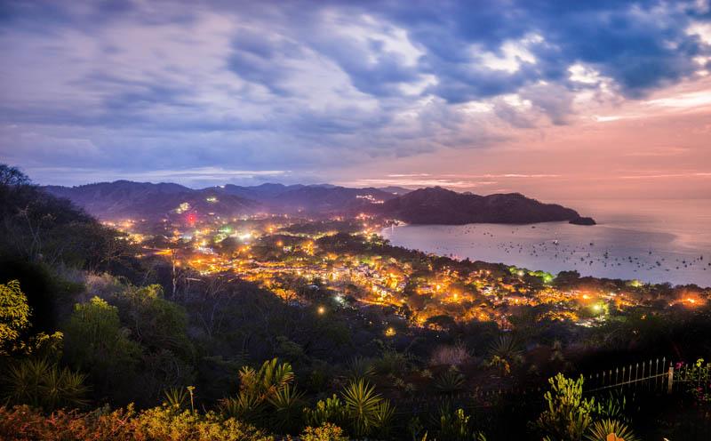 Playas del Coco, Guanacaste, Costa Rica at dusk
