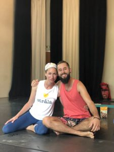 Woody Woodrow with Strala Yoga Founder Tara Stiles