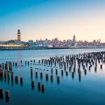 Hoboken New Jersey and Manhattan New York City