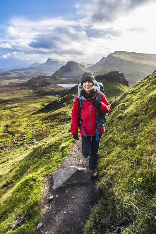 Scotland trekking hiking
