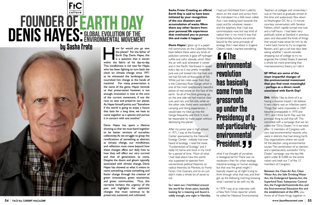 Earth Day Founder, Denis Hayes on the Global Evolution of the Environmental Movement