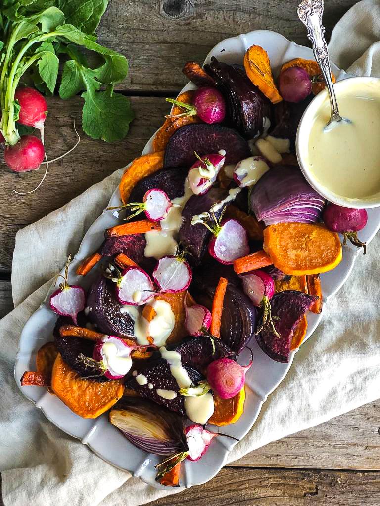 Roast Vegetable Salad with Tahini Dressing Featured Image