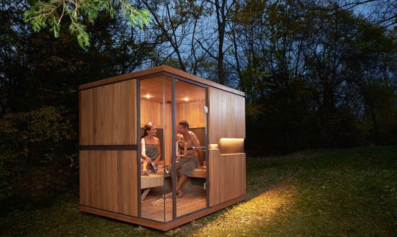 Sunlighten Sauna Outside Couple Nature
