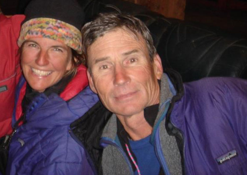 mountaineer Christine Boskoff on climb with Charlie Fowler