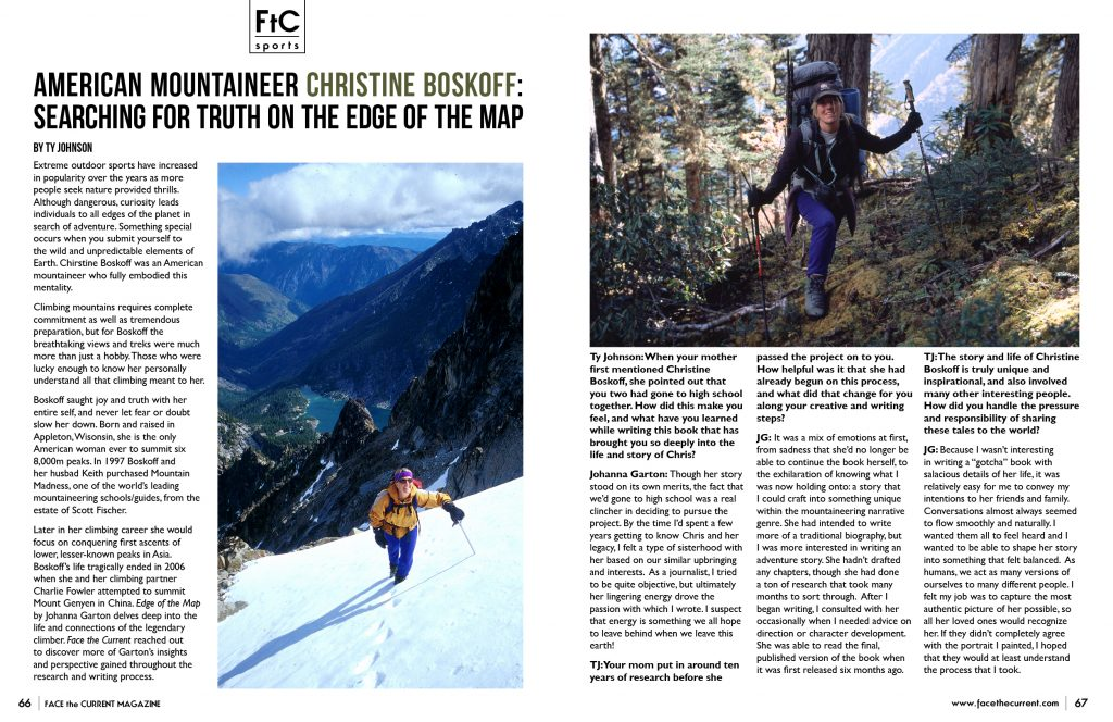 christine boskoff facethecurrent issue 34 edge of the map cover spread