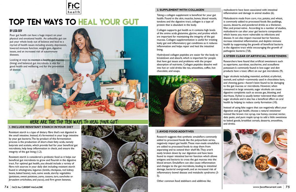 lisa guy top ten ways to heal your gut cover spread