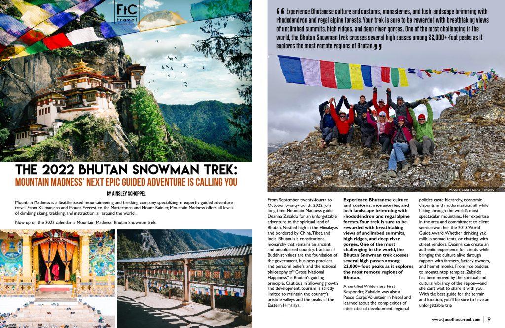 bhutan snowman trek 2022 climb mountain madness