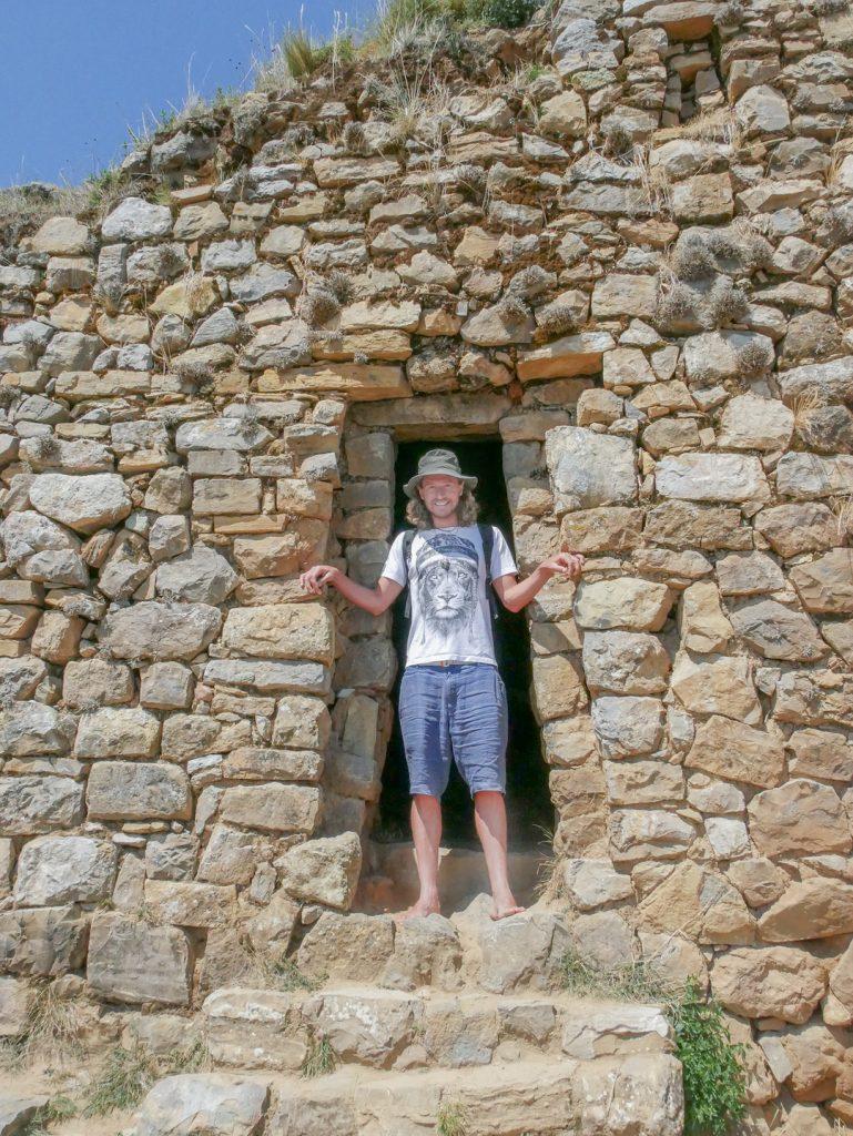 Inca ruins on Isla del Sol Bolivia Lake Titicaca