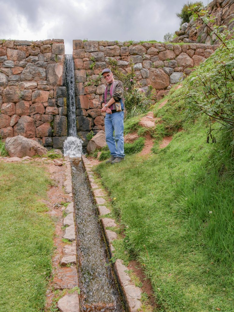 Brien Foerster at Tipon Peru explains the water systems