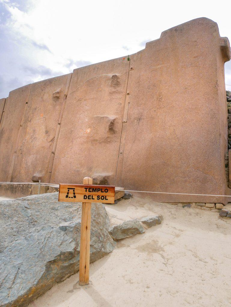 Templo del Sol atop Ollantaytambo Peru