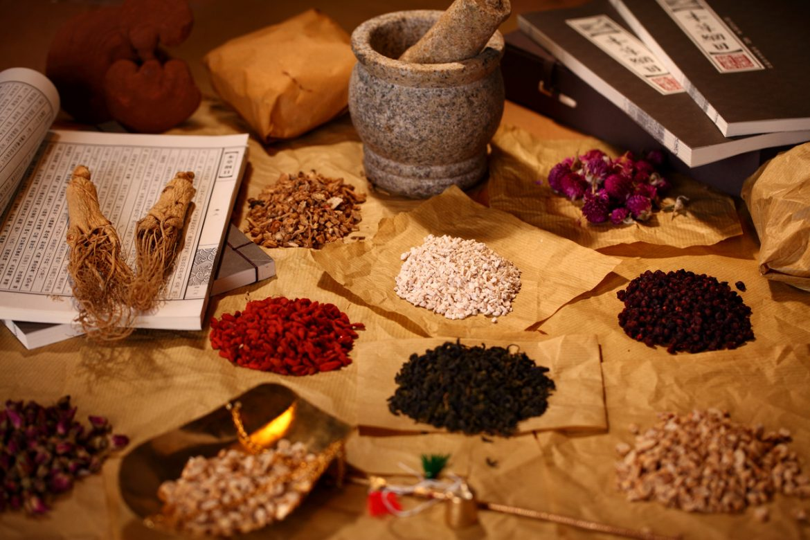 Traditional Chinese Medicine stress relief formula for the body acupuncture treatment